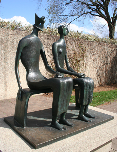 King and Queen Sculpture by Henry Moore