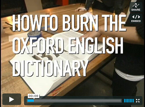 HOWTO Burn the Oxford English Dictionary