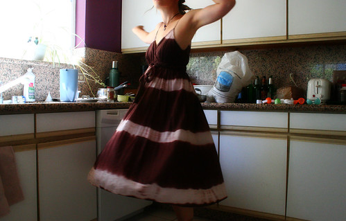 Twirling in the kitchen