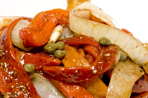 Roaste Red Pepper and Onion Salad
