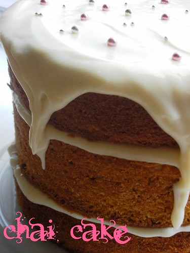 chai cake with honey-ginger cream