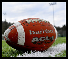 American Football At Åsane Seahawks And Bergen Storms Training Field (by Magnera)