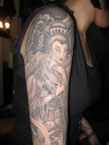 geisha tattoo traditional