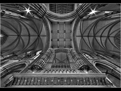 THE PIPES - ROCHESTER CATHEDRAL by Kev Bell (kevbell007) Tags: city uk longexposure england blackandwhite black building art architecture photoshop buildings lens photo kent interesting lowlight exposure angle cathedral image britain digitalart pipes wide creative picture wideangle pic structure rochester organ photograph jpg dynamicrange towns medway hdr ultrawideangle kevinbell parkwoodcameraclub flickriver canon5dmk2 kevbell kevbellphotos kevinbelllrps kevbelllrps