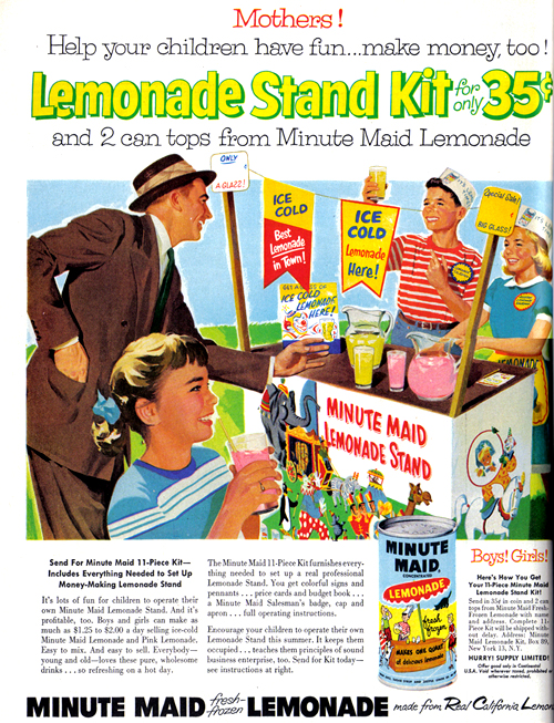 Vintage Ad #805: Lemonade Stand Kit