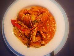小龍蝦蟹肉蝦醬寬扁麵
