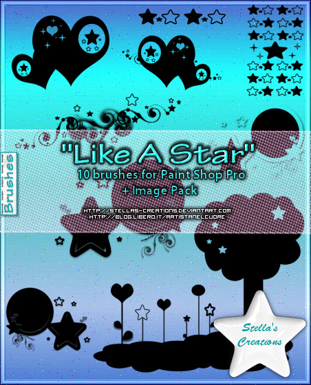 Like A Star Brushes - © Blog Stella's Creations: http://sc-artistanelcuore.blogspot.com