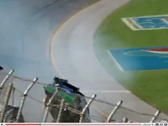 carl rear view (zzazazz) Tags: last fence crash lap carl nascar wreck edwards amateur aarons 499 talladega grandstands catchfence
