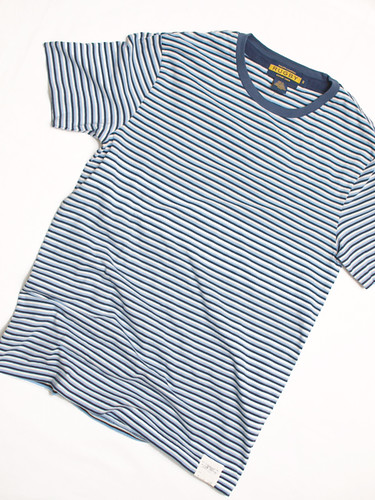 Rugby / Striped Crewneck Tee