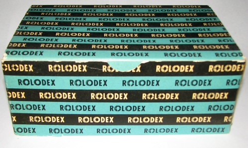 Rolodex Cards Box
