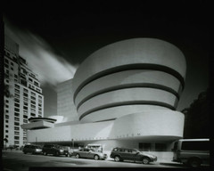 D5100902 (gmpicket) Tags: nyc history architecture modern manhattan historic pinhole franklloydwright kodaktrix gothamist 2009 internationalstyle uppereastside guggenheimmuseum d7611 camerad