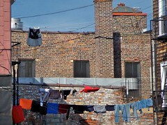 The clothes get some fresh air (onwatersedge) Tags: laundry clotheslines williamsburgbrooklyn
