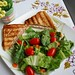 Grilled Sandwich and Salad