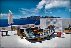 Recycled Terrace Garden (Souvik_Prometure) Tags: greek boat mediterranean santorini greece recycle oia sigma1020mm flickrsbest nikond80 souvikbhattacharya