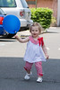 So happy with her balloon