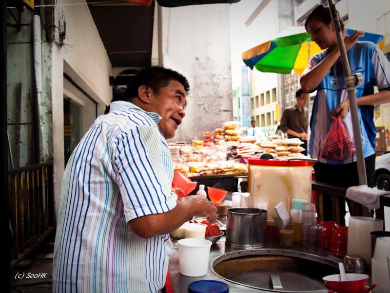 Soya Bean Seller @ KL, Malaysia