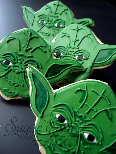 Yoda Face Cookie Star Wars