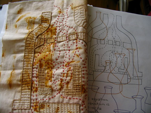low fired stitchery project