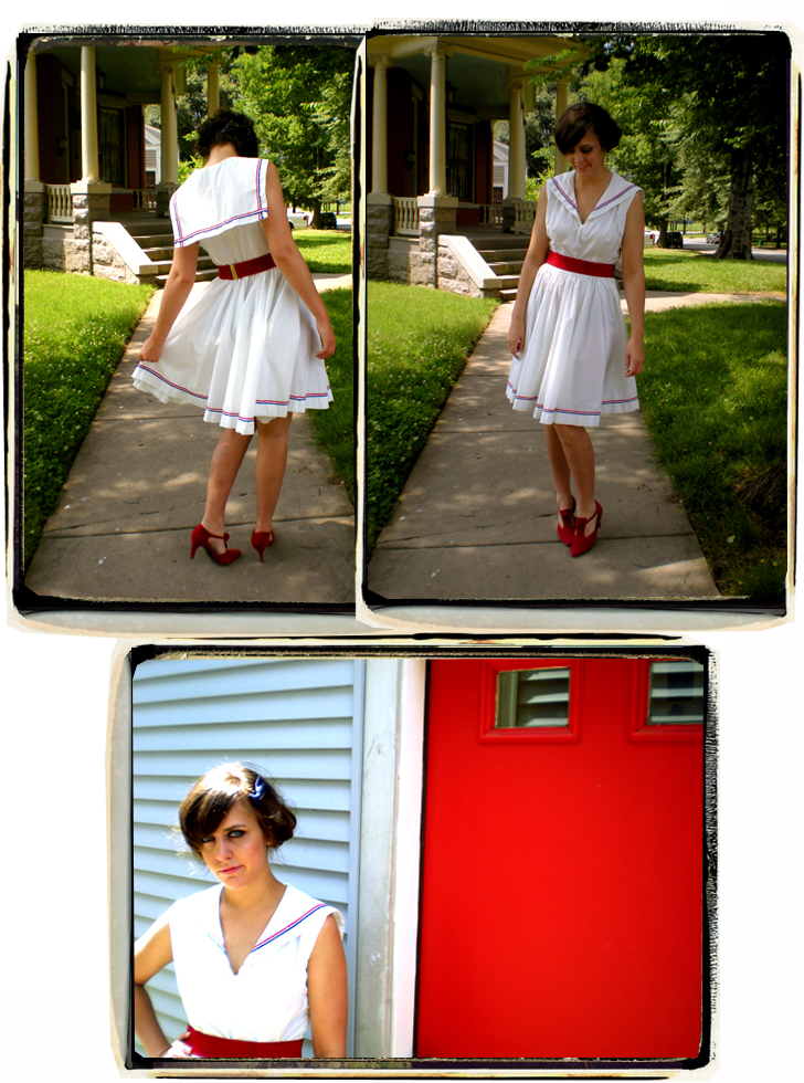 50's Sailor Dress Collage