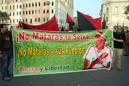 Movimiento Tierra y Libertad también presente por ALTERNATIVA PRENSA.