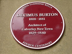 Photo of Decimus Burton claret plaque