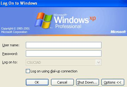 windows logon prompt