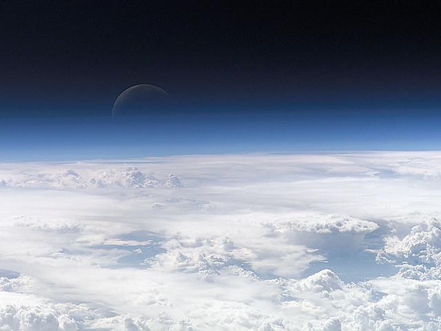 A Blue Crescent Moon (NASA, Moon, 6/18/09)