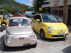 Old and New (BEN - The Automotive Industry Charity) Tags: italy ben fiat500 millemiglia
