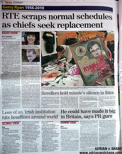 Adrian + Shane in the Irish Independent (May 3rd)