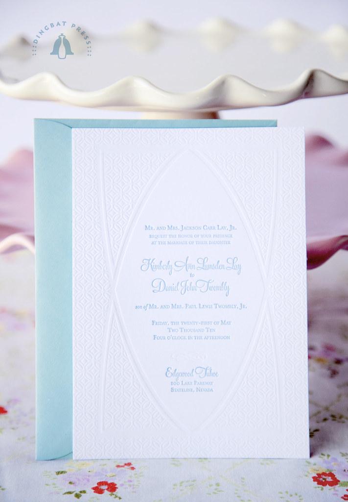 Kim Lay, LOTR wedding invitations, Letterpress