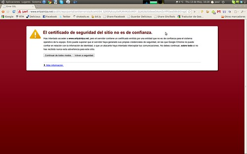 Formulario en Chrome