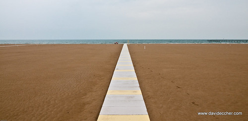 Rimini beach on a raining day