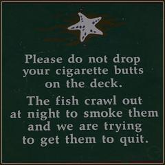 Sign (Peter_R2013) Tags: fish canada sign bc smoking vancouverisland alberta painters campbellriver