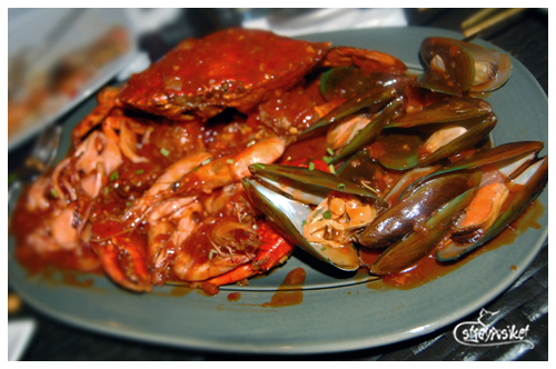 crab and seafood