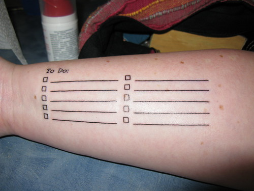 "My ""To Do"" List: Yay for functional tatt by robstephaustralia, on Flickr"