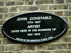Photo of John Constable black plaque
