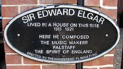 Photo of Edward Elgar black plaque