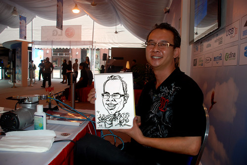 caricature live sketching for LG Infinia Roadshow - day 1 - 15