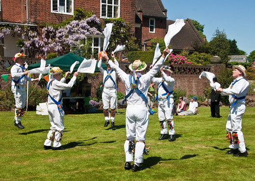 Morris dancing at Winterbourne House in Birmingham - picture thanks to Katchoo on flickr