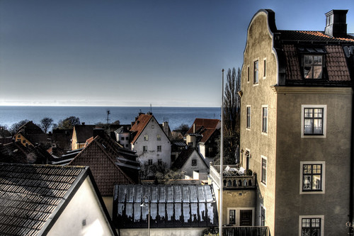 Roofs and sea. Visby. Tejados y mar