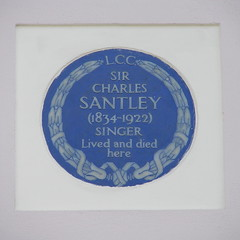 Photo of Charles Santley blue plaque