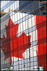 Canada Flag Reflection Downtown Vancouver N2065e (Harris Hui (in search of light)) Tags: windows red white canada color reflection glass wall vancouver leaf maple cool nikon downtown bc artgallery sigma patriotic canadian richmond seeing patriotism amateur telephotolens ocanada vancouverartgallery d300 downtownvancouver sigma70200mmf28 nikonuser 2010winterolympic mapleleafflag sigmazoomlens nikond300 reflectiononwindow walkindowntown weekendpictures nationalflagofcanada harrishui ilovereflection vancouverdslrshooter canadaflagreflection bigmapleleafonthewall beaproudcanadian beingcanadianiscool