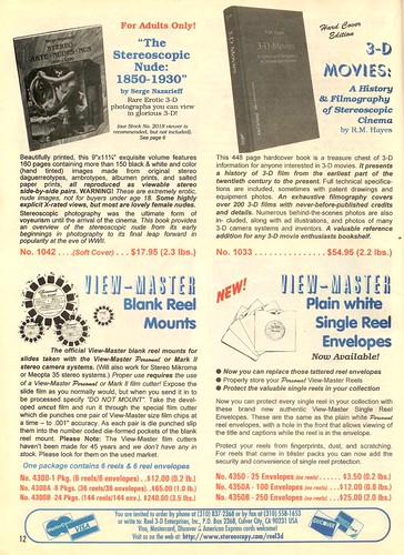 Books about Stereo (3-D) Photography and View-Master Reels