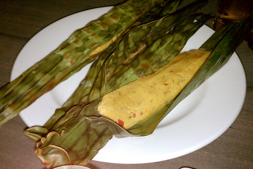 Otah (spicy mackerel & coconut grilled in banana leaf)