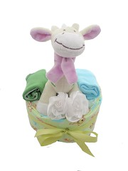 Gabby Baby Cake (bubsinarms) Tags: giftboxes giftbox giftbasket babygift giftbaskets babygifts babycake babyshowergift nappycake bubsinarms
