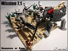 Mission 7.1 - Crusaders of Gand (n7mereel) Tags: star 71 corps sniper mission bazooka wars squad gand crusaders lieutenant mereel 2011 27511 racker boombs brickarms lacce 457th xeta mayx n7mereel