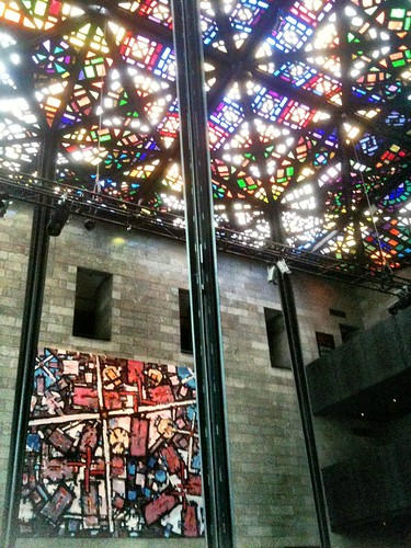 Stained glass roof of the NGV