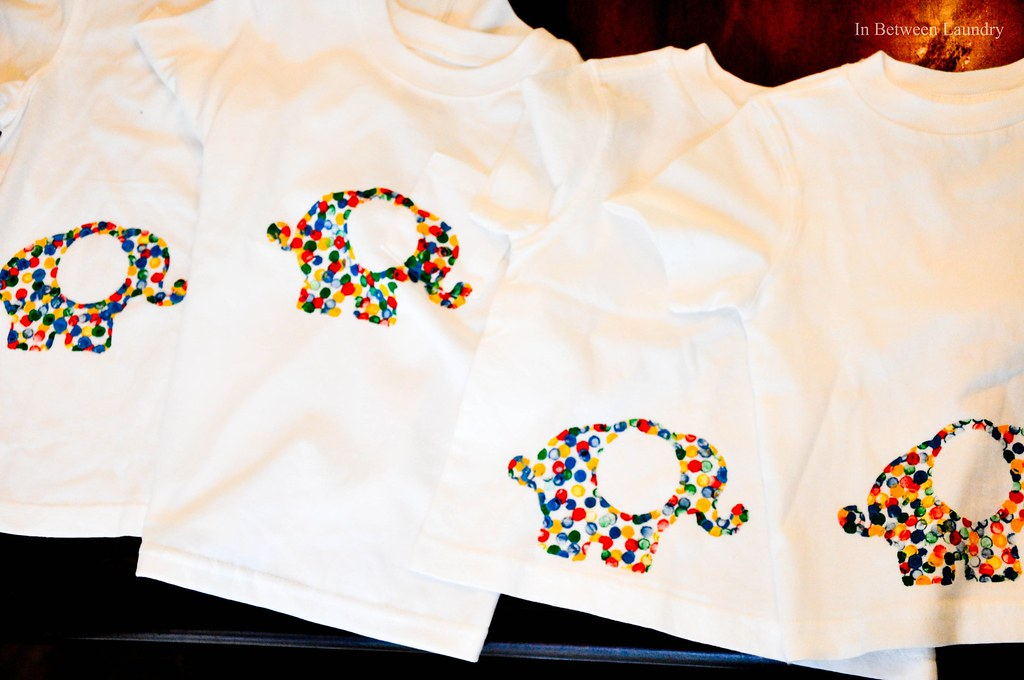 elephant t-shirts kid craft preschool