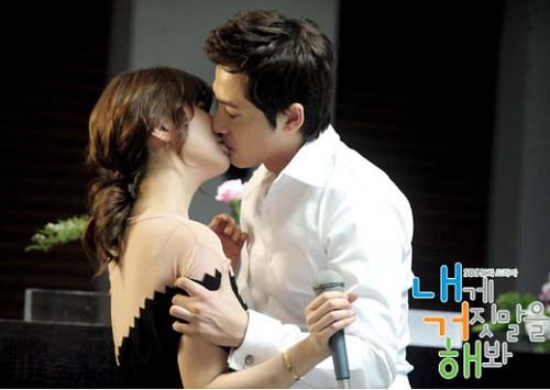 "Kang Ji Hwan ""Lie To Me"" First Kiss Scene with Yoon Eun Hye [2011.05.25 ]"