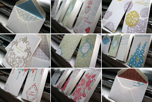 Letterpress stationery + letterpress cards - Smock